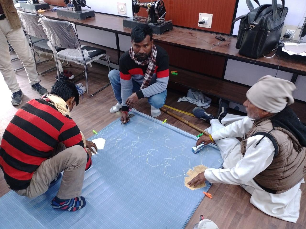 Cloth face mask making at nsk
